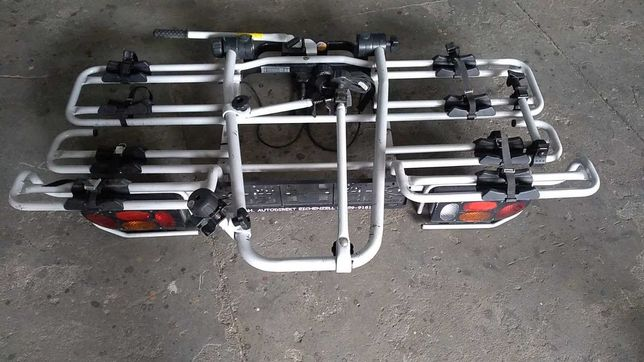 Niemiecki uchylny bagażnik rowerowy hak MFT Multi Cargo 4 rowery 80kg