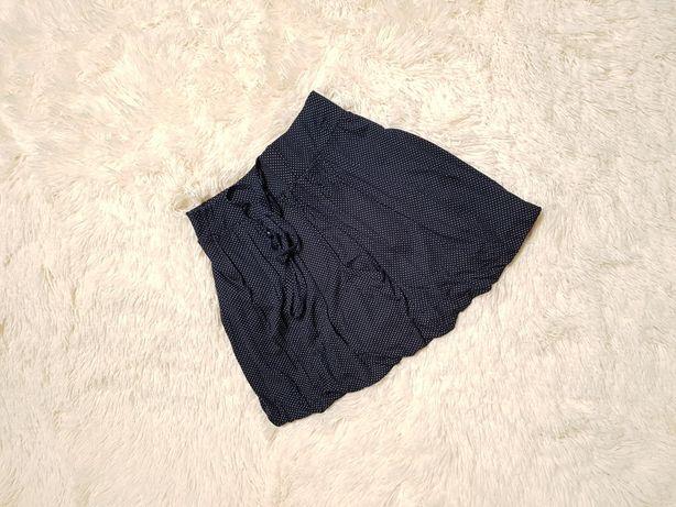 Granatowa spódnica w białe kropeczki, Cropp rozm. 34
