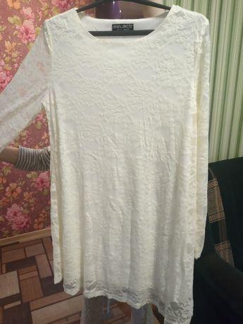Молочное ажурное платье