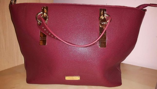 Nowa, bordowa torebka z Femmestage Eva Minge typu shopper