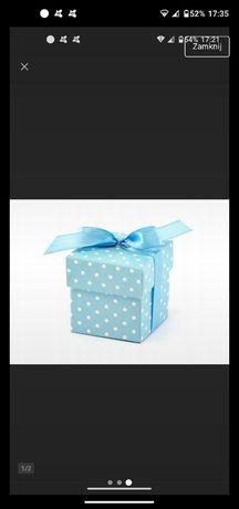 Pudełeczka podziękowanie dla gości ozdoba chrzest urodziny chłopiec