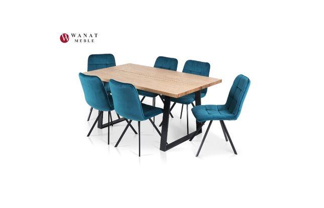 Stół Okleina dębowa + 6 Krzeseł ALEX Meble Wanat
