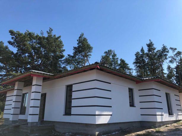 Новий проект. 1 поверховий будинок у Лісовій Бучі. Закрите КМ.