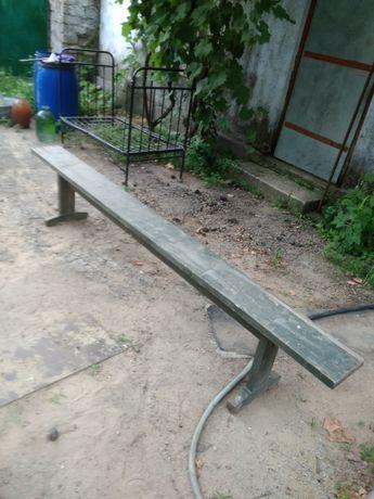 Скамейки деревянные б/у-5 шт.
