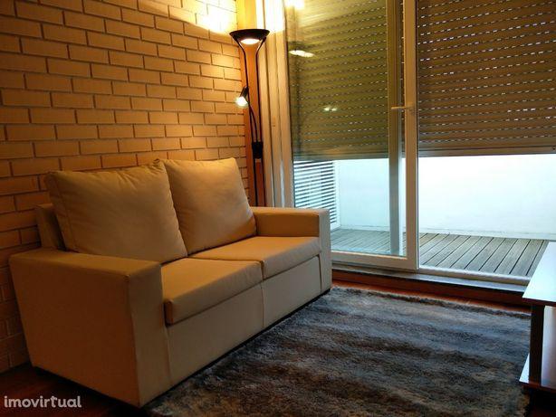 Estúdio T0 mobilado no condomínio na Solum /Alma Shopping
