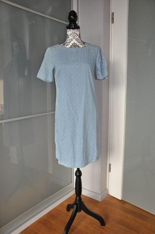 Sukienka materiałem przypominająca jeans