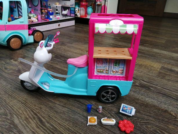 Barbie mobilny bufecik skuter