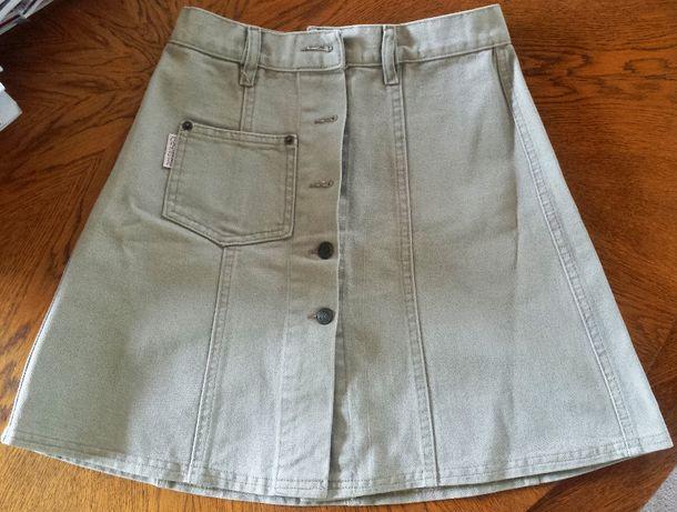 Spódnica a'la jeans beżowa xs marki Arizona jeans styl amerykański