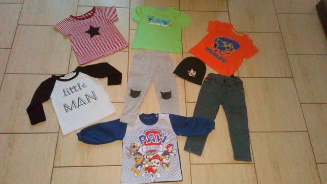 Paka ubrań dla chłopca, rozm. 80/86, spodnie, bluzki, Psi Patrol itd.