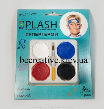 """Профессиональный аквагрим детский """"Супергерой"""", 4 цвета"""