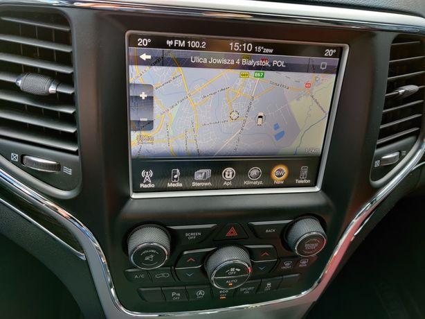 Nawigacja, język polski, fale radiowe Jeep Grand Cherokee 2014-17