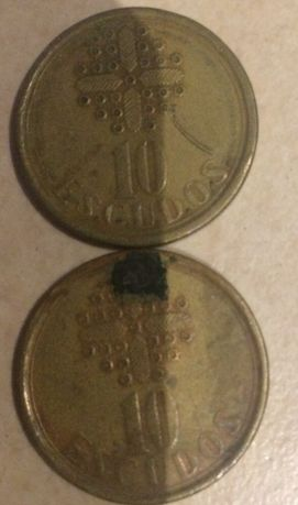 2 moedas de 10 escudos (1987)