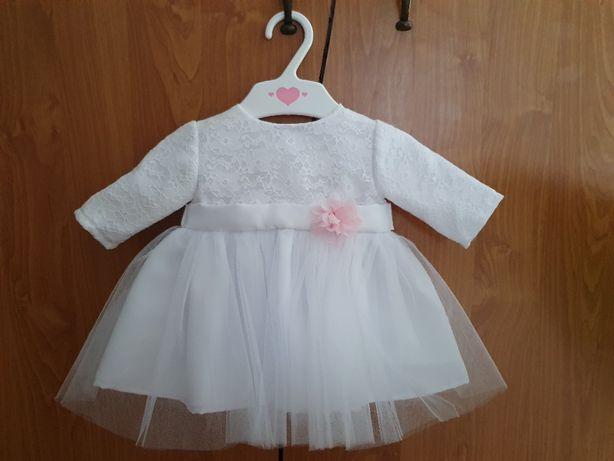 Sukienka tiulowa na chrzest na 50cm