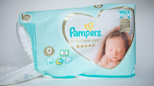 Підгузки, памперси  Pampers premium care 0