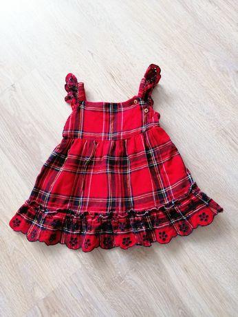 56 62 cm 0 3 msc f&f sukienka na święta sesję świąteczna kratka