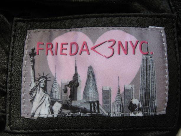 Damska skórzana markowa kurtka FRIEDA LOVE NYC jak nowa XL/XXL