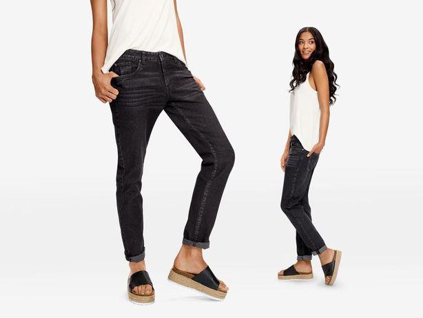 Черные джинсы girlfriend jeans Lidl, 40 размер.