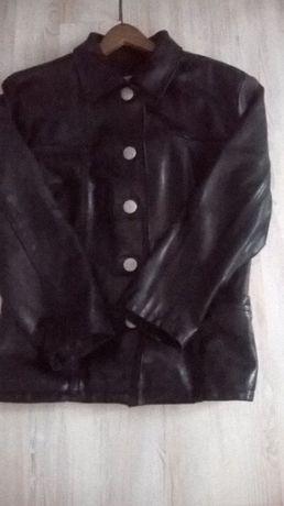 skórzana, klasyczna kurtka męska, L,skóra naturalna czarna