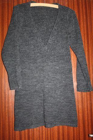 sweter/tunika kolor szary w rozm. 40