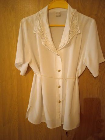 Bluzka biała z krótkim rękawem