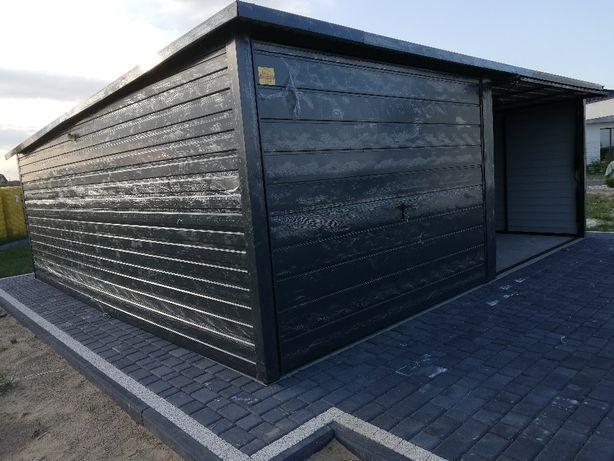 Garaż blaszany 6x5 spad dachu do tyłu kolor z palety ral