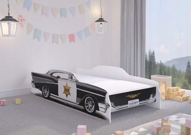 Łóżko dziecięce SZERYF 160x80 +materac - SAMOCHÓD POLICJA