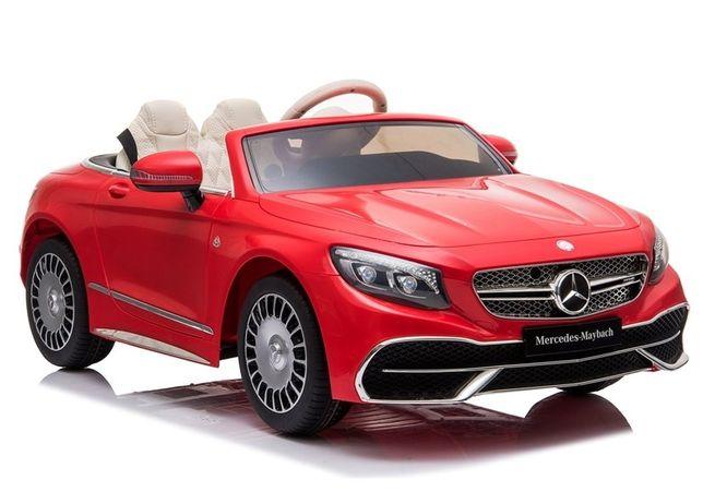 Mercedes MAYBACH auto na akumulator dla dzieci PILOT EVA SKÓRA LED