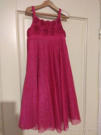 Платье с атласными розами монсун