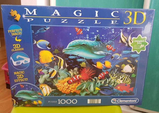 Puzzle 3 D- NOVO, ainda embalado com plástico