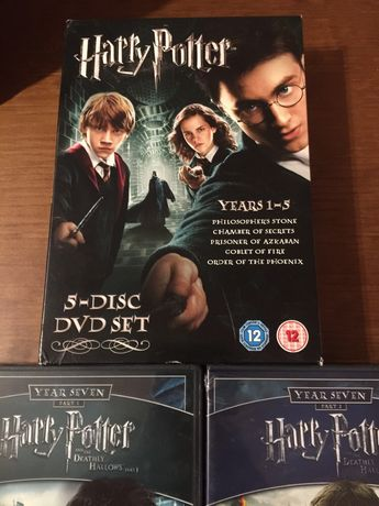 DVD coleccao Harry Potter anos 1 a 7