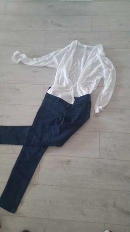 Zestaw kardigan/sweter i spodnie L -40