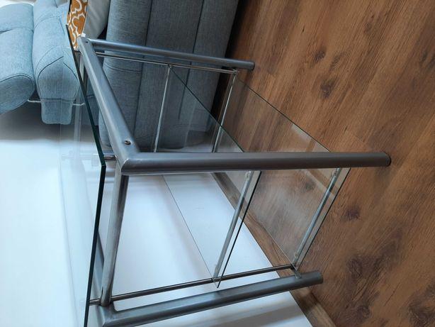 Stolik szklany 49×79cm wys. 69cm