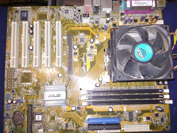 Asus K8N с процесором и ящиком