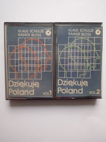 Kasety KLAUS SCHULZE < Dziekuje Poland vol. 1 i 2 r 1983 Poland