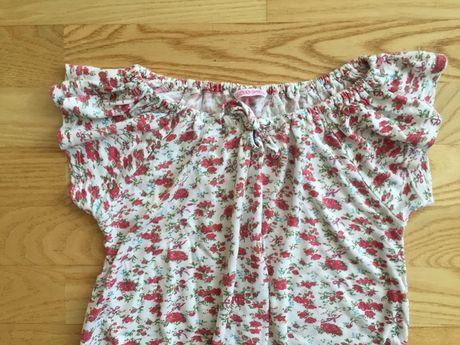 Bluzeczka w kwiatki , r.152/158 hiszpanka