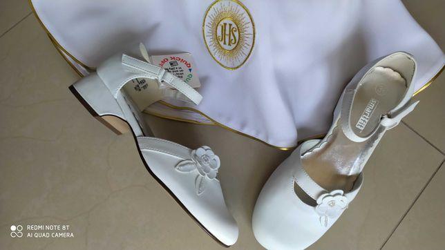 Buty pantofelki komunijne na obcasie roz 35 z USA