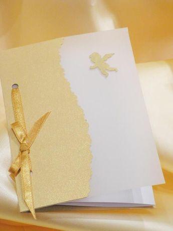 Autorskie zaproszenia ślubne - model Fusion - ręcznie robione