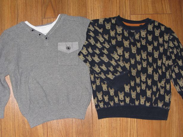 Sweter *GEORGE* + bluza *NEXT* r.92