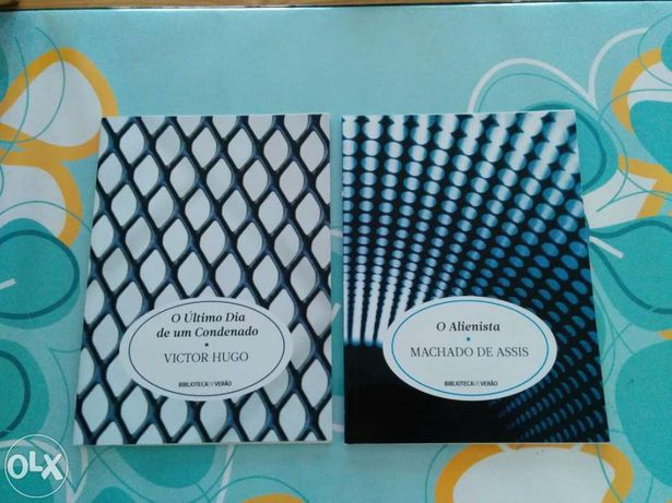 """Livros """"O último dia de um condenado"""" e """"O alienista"""""""