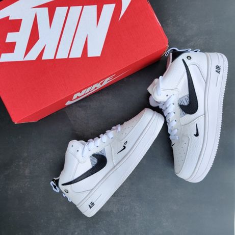 Зимние кроссовки мужские Nike Air Force белые