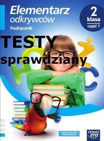 Książka Elementarz odkrywców testy sprawdziany klasa 2 klasa 3 klasa 1