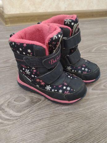 BG термо ботинки р. 28 18 см  сапоги девочке