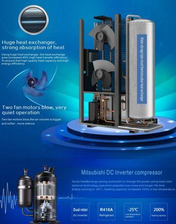 Pompa ciepła- inwerter 3-8,5 kW do -25 spr.Mitsubishi
