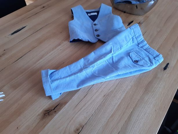 Zestaw h&m spodnie kamizelka r 92 98