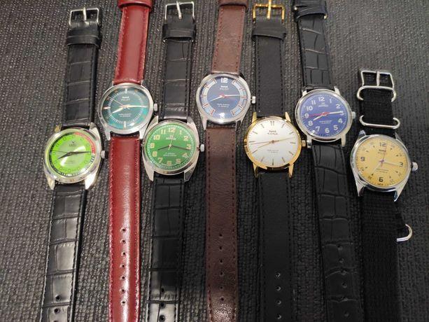 10 Relógios antigos vintage pulso a corda relógio antigo