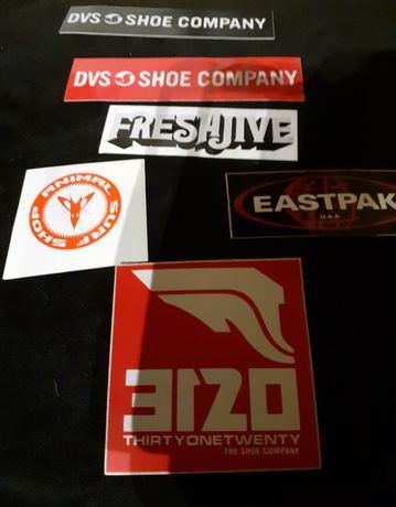 6 cromos/stickers de várias marcas