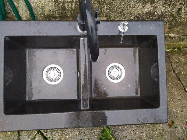 Zlew granitowy plus bateria i dozownik