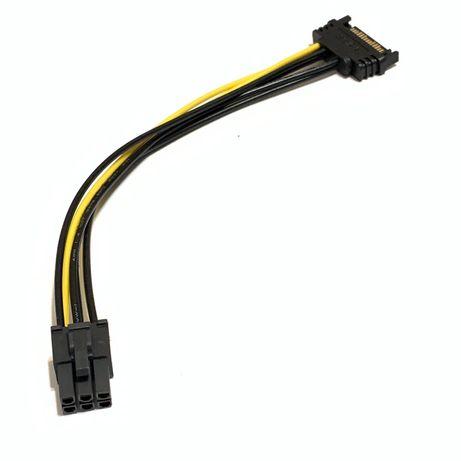 100 штук Переходник питания для видеокарт Sata на 6 pin новый