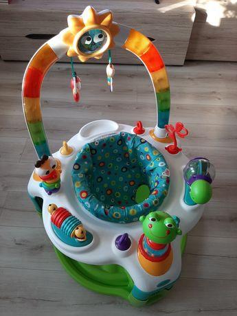 Bright starts 2w1 krzesełko mata zabawki grające słoneczko