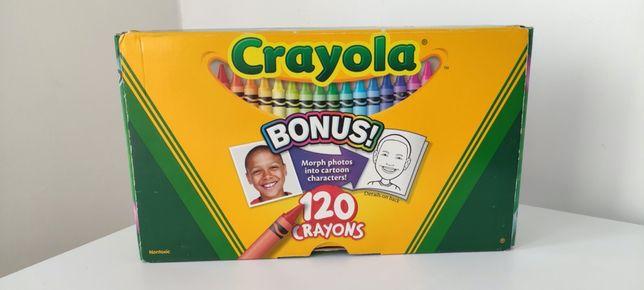 Мелки цветные восковые карандаши, в наборе 120 штук с точилкой, Crayol